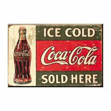 Home Decor Vintage Metal Tin Sign Coke Coca-Cola 1916 Ice Cold 16x13