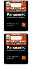 NEW Panasonic Eneloop Pro XX 930 mAh 8 pcs AAA Ni-MH rechargeable BK-4HCD/4 2set