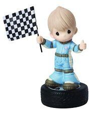You Make My Heart Race Car Driver Precious Moments Boy Tire Checkered Flag NWOB
