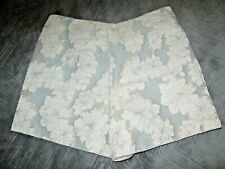 Topshop ladies shorts size 8 silver floral