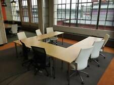 Office Furniture Custom Segmented Conference Tables Multiple Colors Styles
