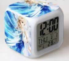Disney Frozen Led 7 Colors-Changing Digital Alarm Clock