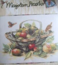 MARJOLEIN BASTIN summer FRUIT monarch BUTTERFLY bird art NEW CROSS STITCH KIT