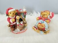 Cherished Teddies Christmas Santa Lot 352713 Sanford 534242 Vintage Bear Town