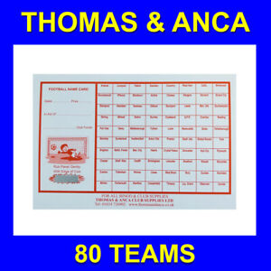 10 Football cards Charity Fundraising Football Scratch Cards 80 Team Bus Stops