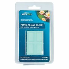Aquapro POND ALGAE BLOCK for Crystal Clear Water Up to 800L, Easy to Use, 20g