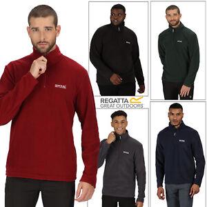 Regatta Mens Thompson Lightweight Half Zip Base Layer Micro Fleece Pullover Top