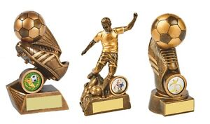 3 x 5 1/2 inch Football Trophy Awards engraved + postage free (RRP £27.65)
