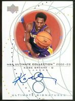 KOBE BRYANT 2002-03 ON-CARD AUTO Upper Deck NBA Ultimate Collection Signature