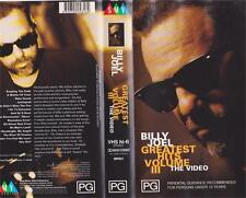 BILLY JOEL VIDEO 111 GREATEST HITS  VHS VIDEO PAL~ A RARE FIND~