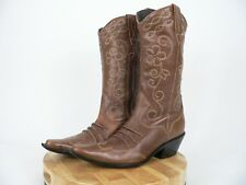 Matisse Women's Brown Soft Leather Upper Western Boots Stitching Brazil Size 7M