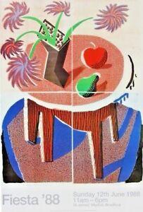 David Hockney - Fiesta '88 -  ORIGINAL RARE POSTER