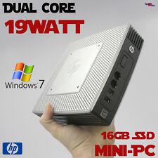 Dual Core Mini Delgado Computadora de la Pc hp 16GB SSD 4GB DDR3 Cabeza Windows