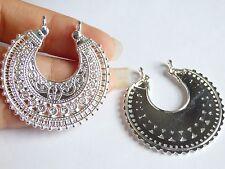 5 moon charms pendants Tibetan silver jewellery making wholesale UK IR 42