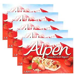 Alpen Strawberry & Yogurt Cereal Bars (Pack of 10 bars)