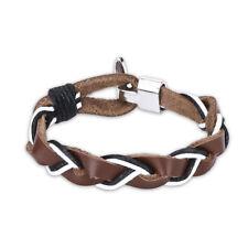 Leather Bracelet Adjustable Size Handmade Toggle Clasp L486