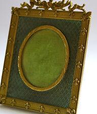 FLEUR de LYS,cadre en bronze doré, fleurs de lys, miniature,SUPERBE CADRE ANCIEN