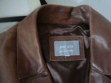 M&S    Per Una     Ladies   Soft Brown Leather Jacket     m  12  14