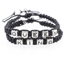 Partner Armband geflochten King Queen Anhänger Freundschaft Armband Schwarz Best