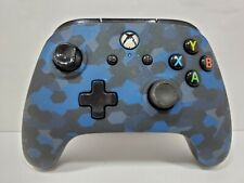 PowerA Wired Xbox One Controller - Blue Camo, Left Stick Issue, No Cable