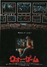 WarGames 1983 John Badham Matthew Broderick Japanese Movie Flyer B5