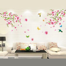 Peach Blossom Butterfly Wallpaper DIY WALL DECALS Stickers Home Deco