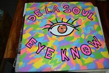 "DE LA SOUL     EYE KNOW     7"" SINGLE    BIG LIFE RECORDS   BLR 13   1989"