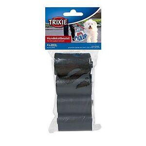 0,02€/Stück Hundekotbeutel Kotbeutel für Hunde Größe M Schwarz 80 Stück Trixie