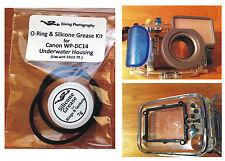 Ersatz O-Ring & Silikonfett Set für Canon WP-DC14 Tauchen Gehäuse