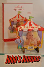 BABY'S 1ST BIRTHDAY HALLMARK 2013 PHOTO FRAME DATED NEW IN BOX FREE SHIP IN US~