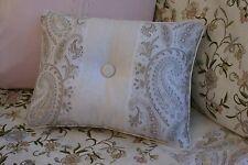 New Custom Ralph Lauren Romantic Traveler Paisley Accent Pillow 1 Button