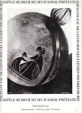 Publicité ancienne parfum Scandal de Lanvin 1955 issue de magazine
