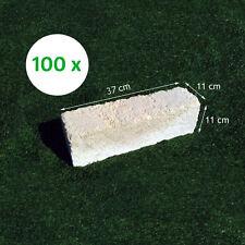 100 Mattoni di tufo chiaro 37x11x11cm blocchi per ornamento aiuole e giardino