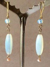 Glass Silver Earring Art Deco Costume Jewellery