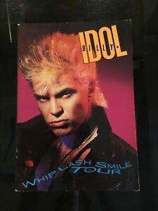 "Billy Idol ""Whiplash Smile"" 1986 Concert Tour Program Book Original"