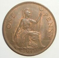 1948 GREAT BRITAIN UK 1 ONE PENNY GEORGE VI WORLD COIN NICE!
