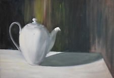 Still Life with teapot oil painting signed