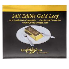 "24K Edible Gold Leaf Sheets, 3,3/8""x3,3/8"", Booklet, Loose, 25 Sheets"