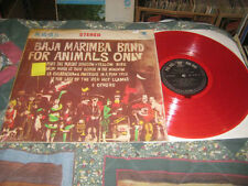BAJA MARIMBA BAND FOR ANIMALS ONLY-RARE IPORT-RED VINYL-BC 4056