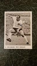 RARE FOOTBALL : JACKDAW Soccer trade card #9 UWE SEELER SV Hamburg West Germany