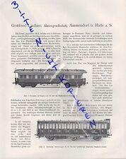 Ammendorf B. Halle/Saale, publicité 1911, Gottfried LINDNER AG