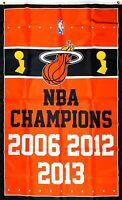 Miami Heat NBA Championship Flag 3x5 ft Sports Banner Man-Cave Basketball Garage