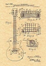 Patent Print - Vintage Les Paul Guitar 1955 - Music Art. Ready To Be Framed!