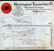 "PARIS (IX°) MACHINE à ECRIRE ""REMINGTON TYPEWRITER C°."" en 1926"