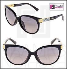 JIMMY CHOO ERIN Black Gold Crystal Rock ASIAN FIT CAT EYE Sunglasses ERIN/F/S