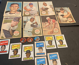 1964-1967~1970 TOPPS LOT OF 18 ALL INSERTS/POSTERS/COINS~HOFERS++