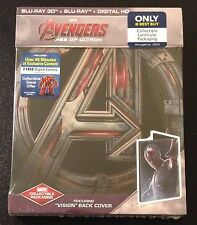 Marvel Avengers AGE OF ULTRON 3D & Blu-Ray SteelBook Best Buy Vision Ed OOP Rare