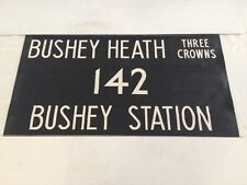"London Harrow Vintage Linen Bus Blind 36""-142 Bushey Heath Three Crowns Station"