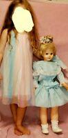 "Patty Playpal FRIEND UNEEDA 3176 Plastic Doll 31""vintage  #33 w/handmade dress"