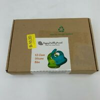 Happy Healthy Parent EZ-Clean Silicone Baby Toddler Bibs 2-Pack New in Box